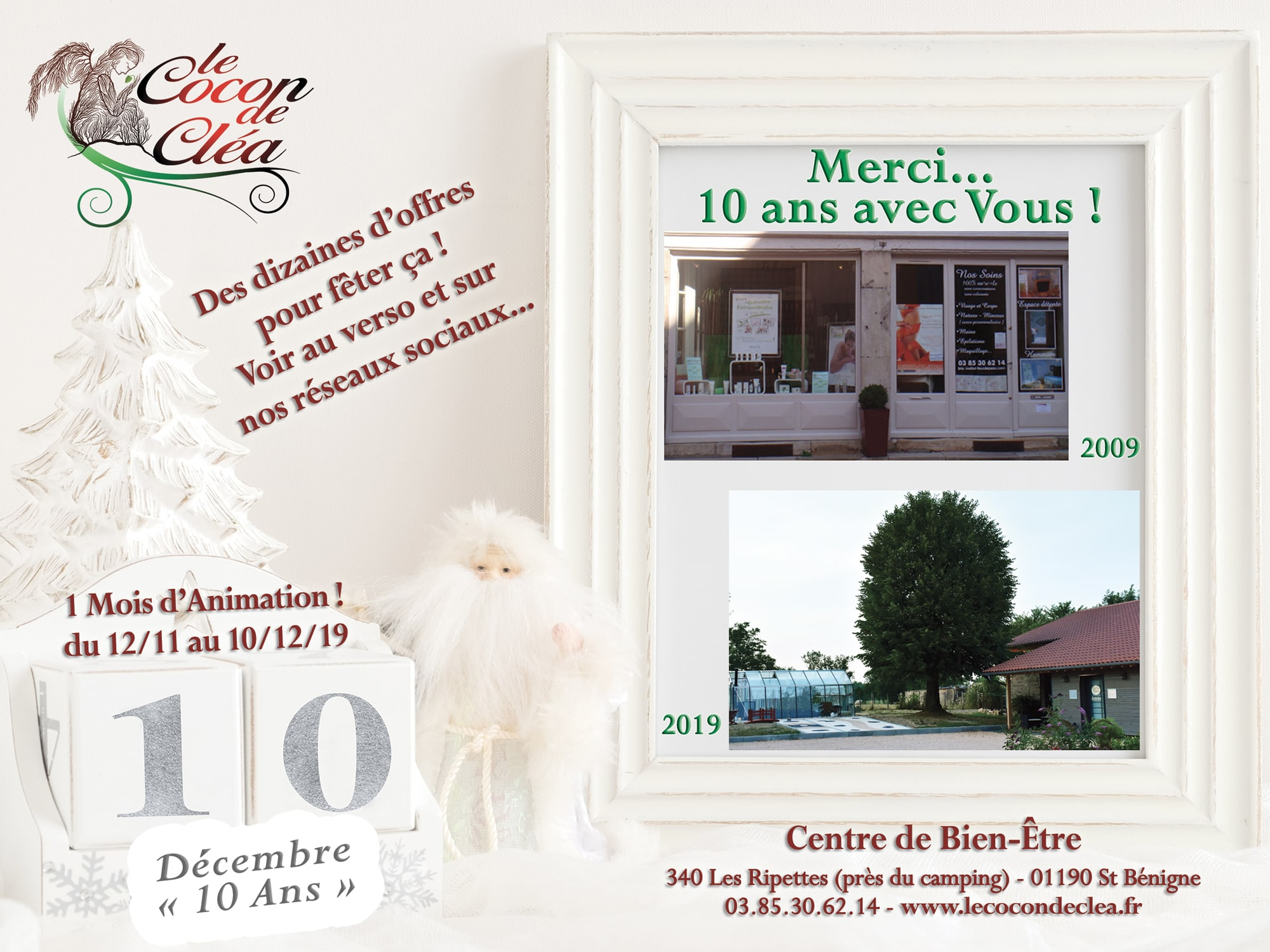 Flyer 10 ans recto Le Cocon de Clea